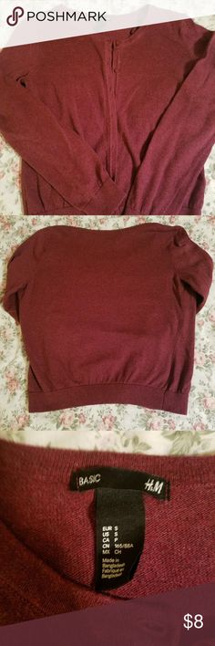 [ H&M ] cardigan Basic burgundy sweater cardigan. Size small. Never worn. H&M Sweaters Cardigans