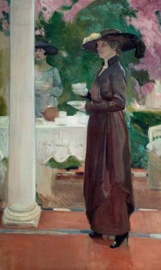 Joaquín Sorolla y Bastida (1863-1923) - Tea in the garden, 1918