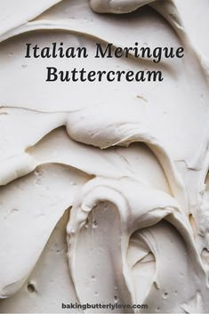 Italian meringue buttercream, made with egg whites, sugar, and butter, is the perfect icing for frosting and decorating cakes! Cupcake Frosting Recipes, Buttercream Cake Decorating, Buttercream Fondant, Icing Frosting, Icing Recipe, Decorating Cakes, Cupcake Cakes, Cake Recipes, Cupcakes