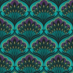 New art deco motif peacock feathers 57 ideas Peacock Wallpaper, Botanical Wallpaper, Wallpaper Roll, Pattern Wallpaper, Paint Wallpaper, Motifs Art Nouveau, Motif Art Deco, Art Deco Design, Collages