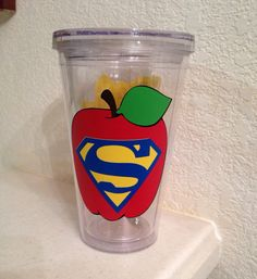 I Teach What's Your Superpower Acrylic Tumbler by NylasGiftShoppe, $12.00