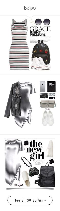 """""""baju6"""" by rizbel ❤ liked on Polyvore featuring T By Alexander Wang, Ollie & B, Converse, Alice + Olivia, GUESS by Marciano, tfp, Jil Sander, Mead, Christian Dior and casual"""