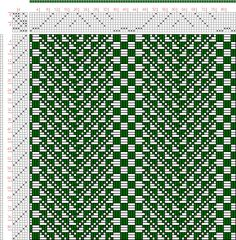 Hand Weaving Draft: Figure 2937, Atlas de 4000 Armures, Louis Serrure, 8S, 6T - Handweaving.net Hand Weaving and Draft Archive