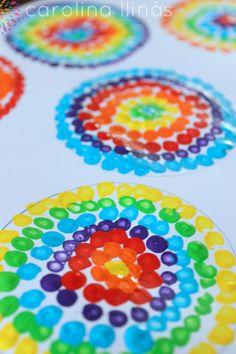 arte para ninos1                                                       … Diy And Crafts, Crafts For Kids, Arts And Crafts, Paper Crafts, Yoga For Kids, Art For Kids, Montessori, Yayoi Kusama, Classroom Art Projects