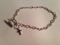First Communion Bracelet Cross Bracelet by prettylittlepretties, $20.00