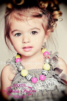 Some day I'll have me a gorgeous little girl to play dress up with :)