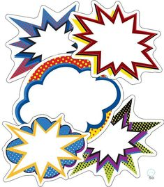 Super Power Bursts Cut-Outs Product Image Superhero Classroom Theme, Superhero Party, Classroom Themes, Superhero Alphabet, Vbs Themes, Classroom Board, Batman Party, Hero Central Vbs, Cubby Tags