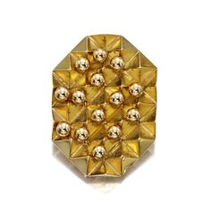 An 18K gold kinetic brooch,  Pol Bury,