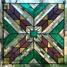 "New 12"" Stained Glass Quilt Pattern Sq Suncatcher 1209   eBay"