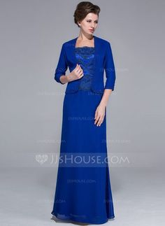 Mother of the Bride Dresses - $142.99 - Sheath/Column Square Neckline Floor-Length Chiffon Charmeuse Mother of the Bride Dress With Lace Beading Sequins (008025767) http://jjshouse.com/Sheath-Column-Square-Neckline-Floor-Length-Chiffon-Charmeuse-Mother-Of-The-Bride-Dress-With-Lace-Beading-Sequins-008025767-g25767?snsref=pt&utm_content=pt