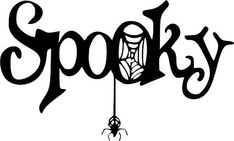 Sppoky Sign Halloween Vinyl Decal Vinyl Decal
