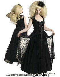 Robe gothique SINISTER 'romance'