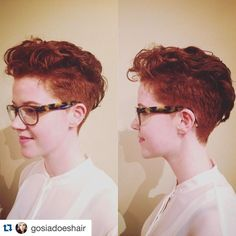 with ・・・ Super cute from last week . Cut And Color, Hair Goals, Red Hair, Pixie, Salons, Short Hair Styles, Hair Cuts, Super Cute, Toronto