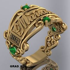 ANILLOS DE GRADUACION #1 — WWW.HACEMOSTUSJOYAS.COM Mens Gemstone Rings, Gents Ring, Couple Jewelry, Engagement Ring Cuts, Rolex, Jewlery, Lion Sculpture, Wedding Rings, Statue