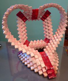Cigarette Wrapper Heart Frame    Tramp Art, Hobo Art, Prison Art