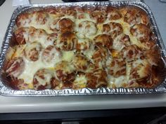 """meat ball sub casserole! """"""""  @allthecooks"""