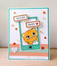 The Cricut Bug: Kitty Phone Text Card