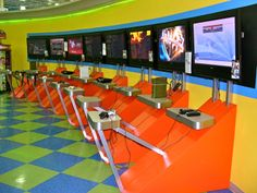 E-Games station for La Curacao.