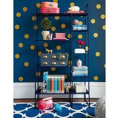 Gold Polka Dot Wall Decals.