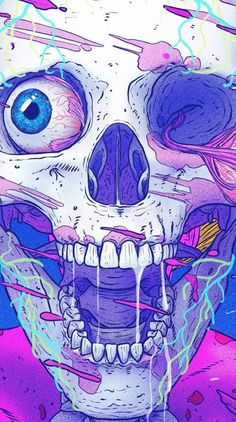 The amazing art of Nick Sullo in wallpapers for your mobile device. Crazy Wallpaper, Trippy Wallpaper, Skull Wallpaper, Graphic Wallpaper, Art And Illustration, Graffiti Art, Hero Marvel, Foto Fantasy, Psychadelic Art