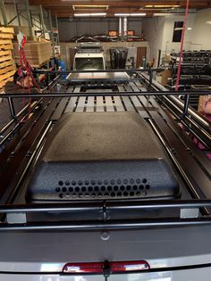 Aluminess roof rack install for Mercedes Sprinter with large A/C, vent, and solar