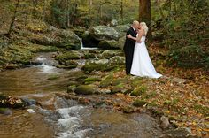 Gatlinburg Creekside Wedding #Gatlinburg #Wedding