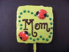So cute! Mother's Day chocolate-covered Rice Krispy treats. $39.80