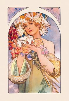 Flower, by Alphonse Mucha