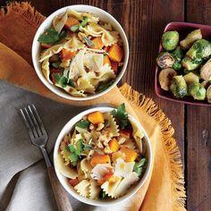 Farfalle with Butternut Squash #healthy #veggie #pasta