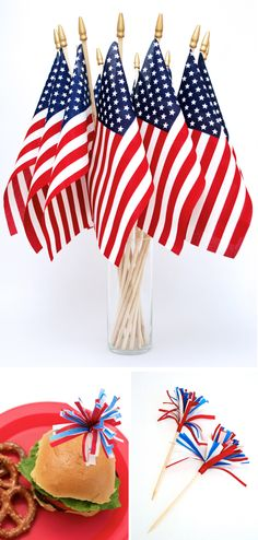 July Fourth Party Decor Ideas- Use some kind of red, white & blue filler!