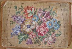 Вышитая мебель. Старинные схемы вышивки крестом и антикварные предметы интерьера - Ярмарка Мастеров - ручная работа, handmade