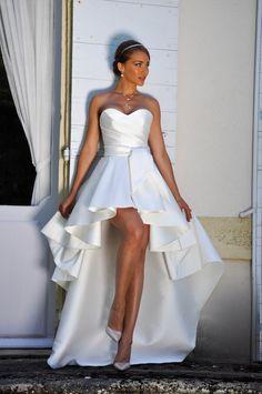 les Mariées de Provence 2018 robe CHOUPETTE. robe de mariée courte devant