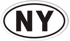 "EM East Meadow New York Oval car window bumper sticker decal 5/"" x 3/"""