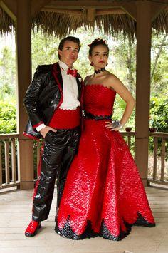 2012 Stuck at Prom finalist Rebecca and Jay Travis - duct tape prom http://stuckatprom.com/?utm_campaign=stuck-at-prom-general&utm_medium=social&utm_source=pinterest.com&utm_content=duct-tape-prom-fashion