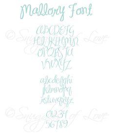 Mallory Embroidery Font