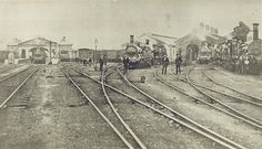 1875 - Old Sydney Railway Station, Redfern Old Train Station, Train Stations, Martinez California, Sydney City, Chicago Photography, Old Trains, Historical Images, Sydney Australia, Tasmania