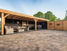 Overkapping Echteld Backyard Plan, Small Backyard Patio, Backyard Patio Designs, Pergola Patio, Diy Patio, Backyard Landscaping, Outdoor Gazebos, Canopy Outdoor, Outdoor Rooms