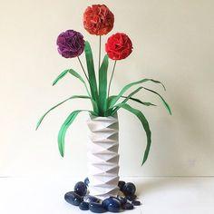 Allium flower in paper vase