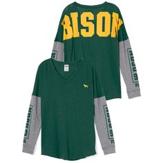 e00f94685 PINK North Dakota State University Long Sleeve V-neck Tee ($25) ❤ liked