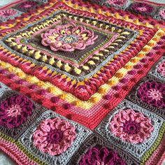 Mandala Blanket CAL Parts 1 - 6 Complete by Sabina Poonwassie