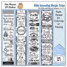 Bible Journaling Planner Stickers Digital By DigiScrapDelights