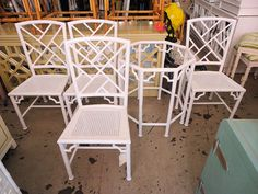 Faux Bamboo CHIPPENDALE Patio Set:)