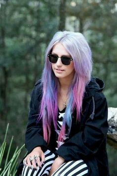 Cotton candy hair color