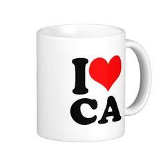 I Heart CA Coffee Mugs