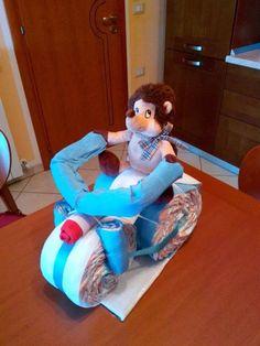 Torta di pannolini moto/triciclo diaper cake
