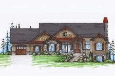 European Style House Plans - 2037 Square Foot Home , 1 Story, 2 Bedroom and 2 Bath, 3 Garage Stalls by Monster House Plans - Plan European Style Homes, European House Plans, Southern House Plans, Country House Plans, Country Living, Mountain House Plans, Beach House Plans, Dream House Plans, House Floor Plans