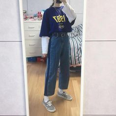 Great prices on stylish korean fashion ideas Mode Outfits, Retro Outfits, Korean Outfits, Grunge Outfits, Trendy Outfits, Vintage Outfits, Korean Clothes, Vintage Clothing, 90s Fashion