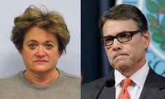 Compare Rick Perry's Mugshot with That of His Highly Intoxicated Accuser Rosemary Lehmberg. That woman is ridiculous!