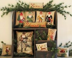 Samplers and Santas: Decorating!  I need to stitch my BOAF Santas!!!!