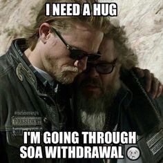 SOA WITHDRAWAL #SOA #jaxteller #sonsofanarchy #reapercrew #fearthereaper #SOAfan4life
